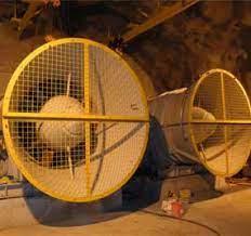 Sistema de ventilación en minería